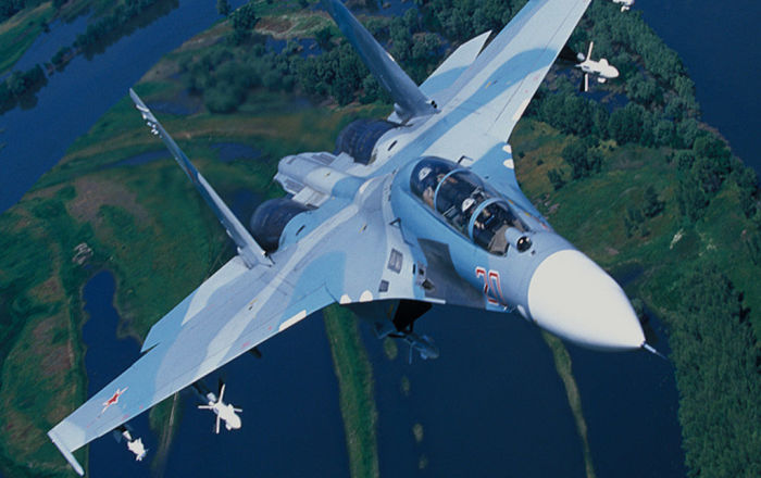 """النمر السيبيري…طلاء مقاتلة أمريكية بألوان """"سو -27″… صور"""