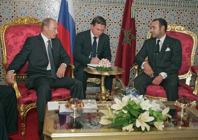 بوتين مع الملك المغربي محمد السادس