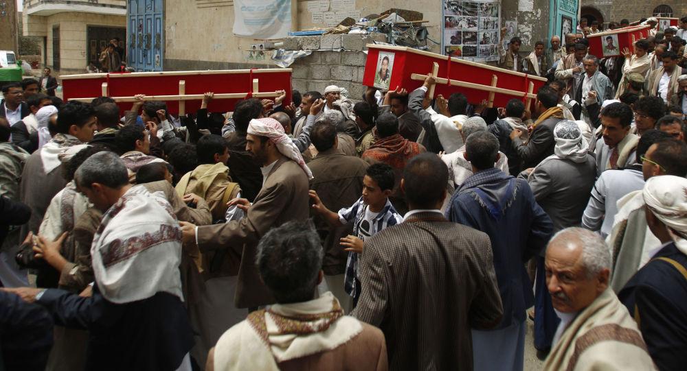 تشييع ضحايا التفجيرات الإرهابية