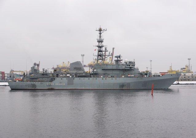 سفينة يورى ايفانوف فى البحر