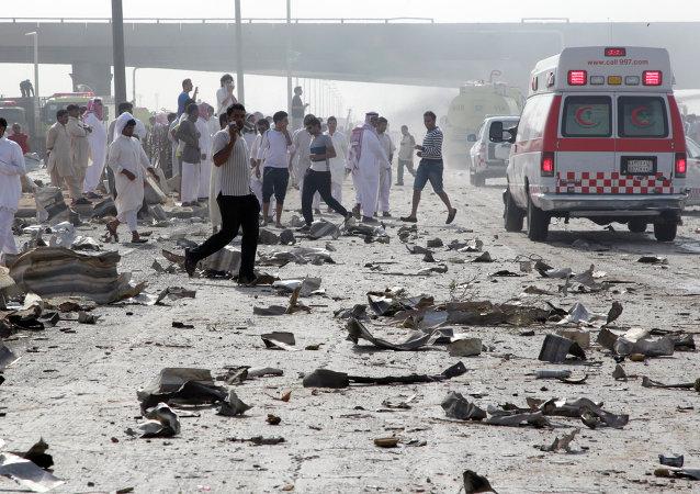 تفجير مسجد في السعودية