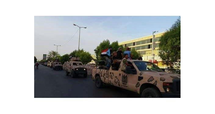 انتشار المقاتلين الجنوبيين في عدن
