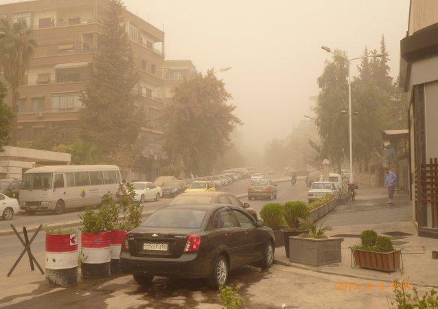 العاصفة الترابية في سوريا