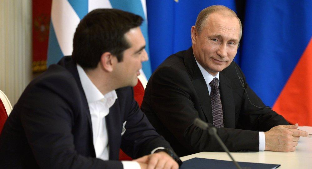 لقاء بوتين وتسيبراس