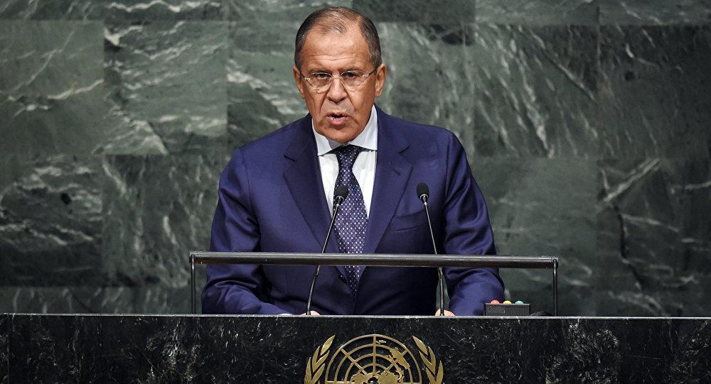 وزير الخارجية الروسي سيرغي لافروف خلال قمة الأمم المتحدة