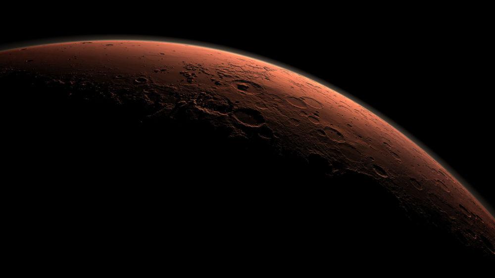 كوكب المريخ أثناء شروق الشمس