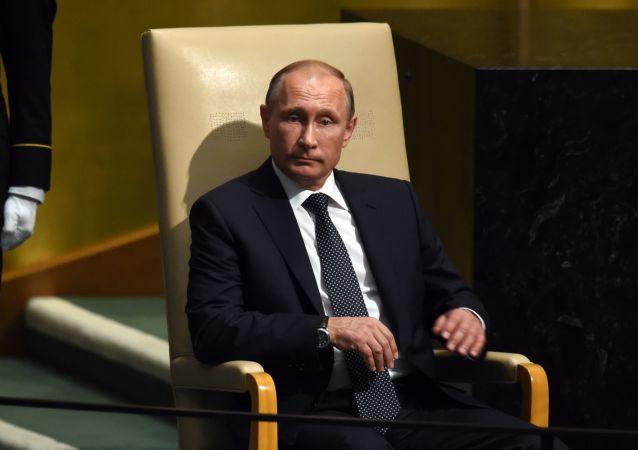 الرئيس الروسي فلاديمير بوتين قبل إلقاء الخطاب في الجمعية العامة للأمم المتحدة