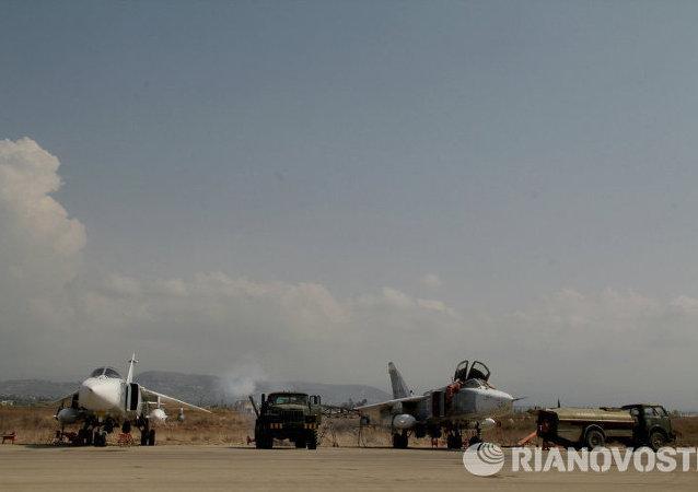 الطائرات الروسية في قاعدة حميميم بسوريا