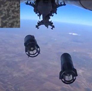 قصف معدات الإرهابيين في سوريا