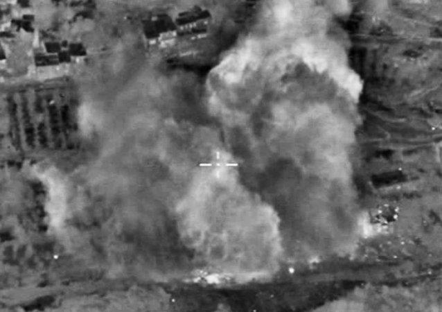 طائرات روسية تضرب مواقع لتنظيم داعش في سوريا