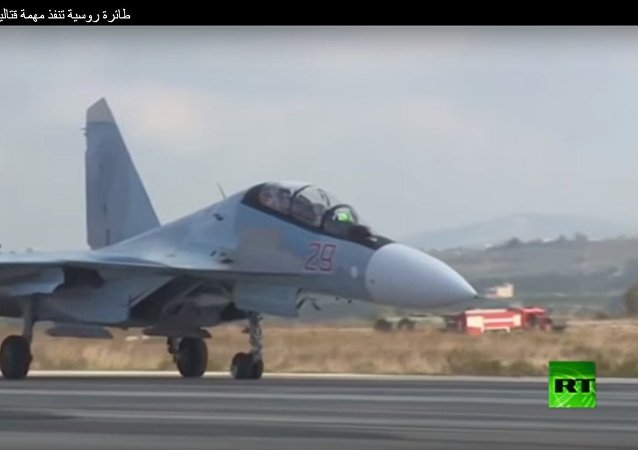 طائرة روسية تنفذ مهمة قتالية في سوريا