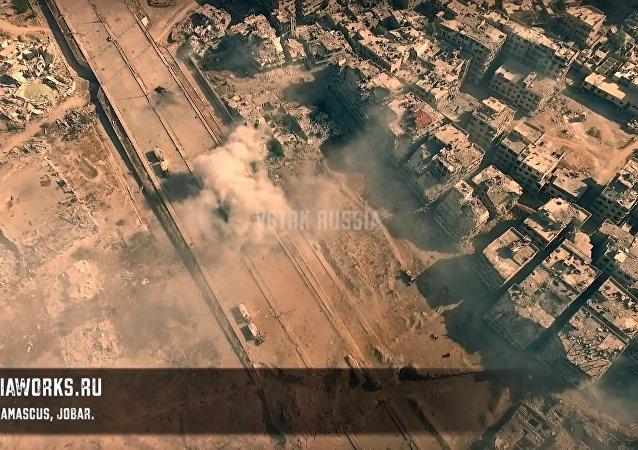 هجوم قوات الجيش السوري على مواقع تنظيم داعش في سوريا