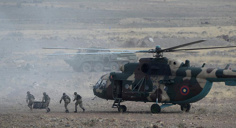 تدريب قوات الأمن الجماعي في أرمينيا