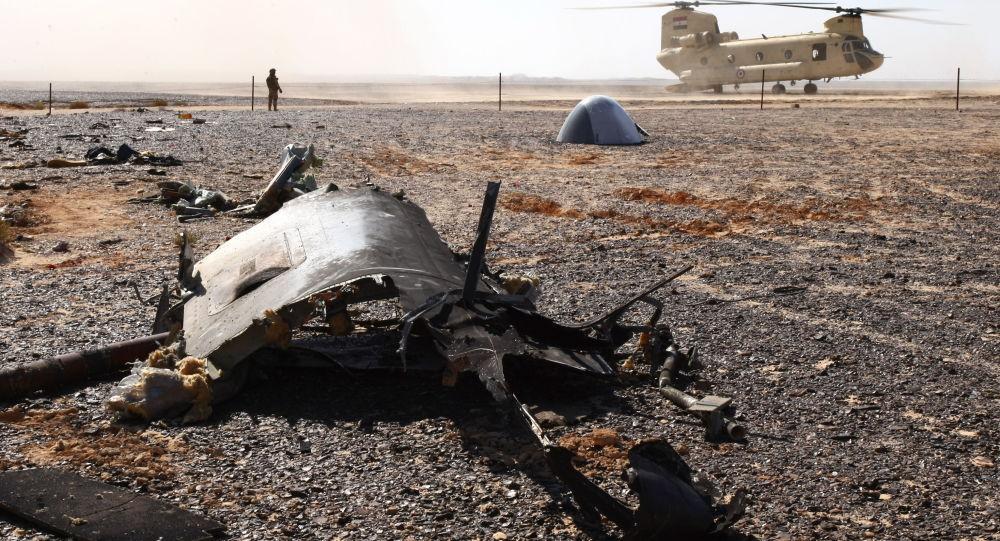 أشلاء الطائرة التي تحطمت في مصر