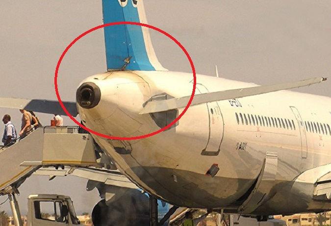 الشقوق فى الطائرة الروسية المنكوبة