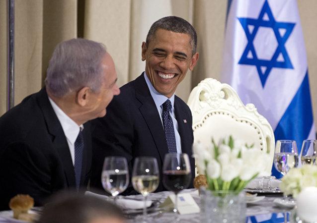 الرئيس باراك أوباما ورئيس الوزراء الإسرائيلي بنيامين نتنياهو