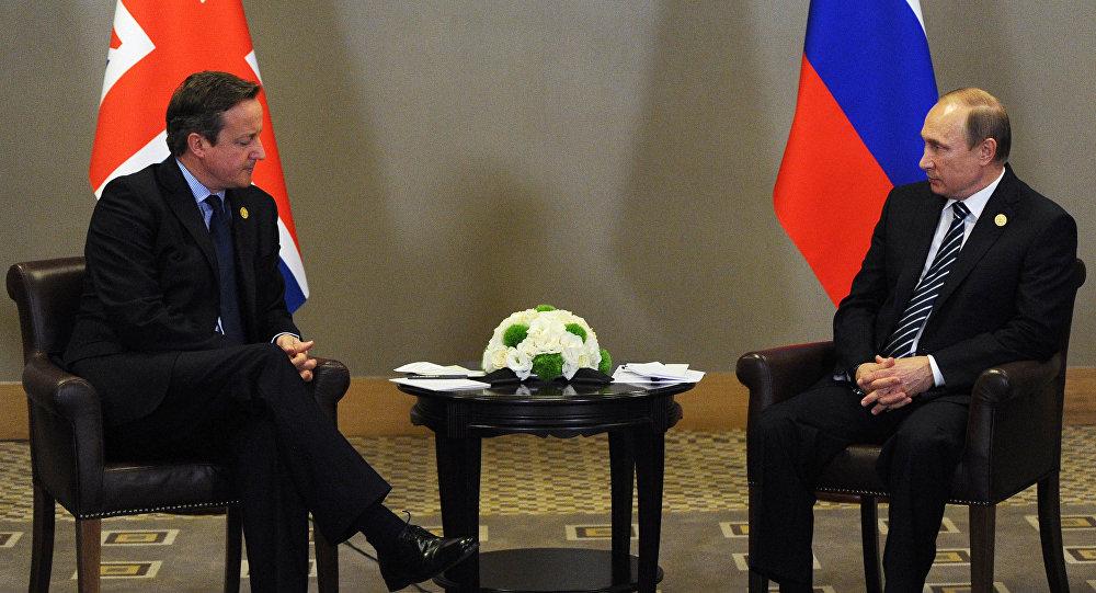 بوتين يلتقي ديفيد كاميرون
