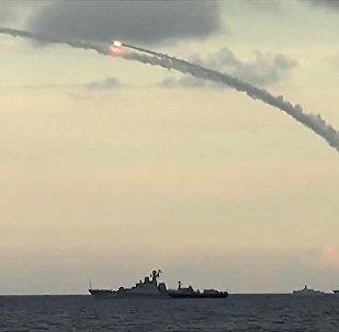 إطلاق الصواريخ على أوكار الإرهابيين في سوريا من بحر قزوين