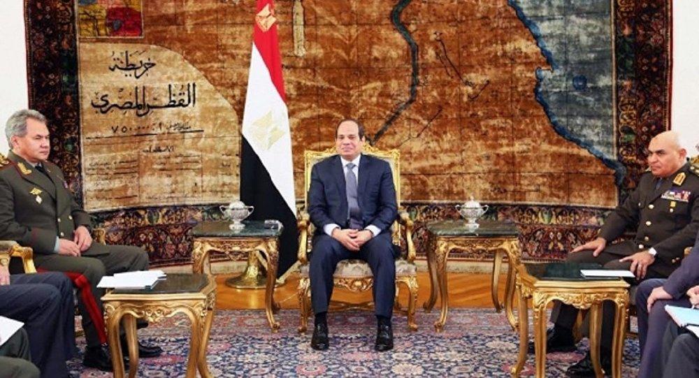وزير الدفاع الروسي يلتقي الرئيس المصري