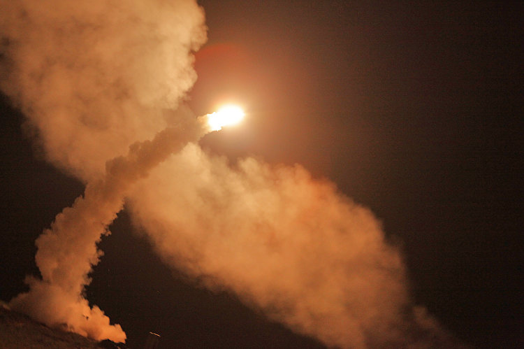 صواريخ إس - 400 الروسية لحظة اطلاقها
