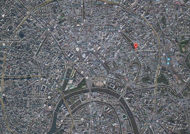 إنفجار بوسط موسكو