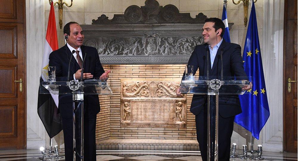السيسي و رئيس وزراء اليونان