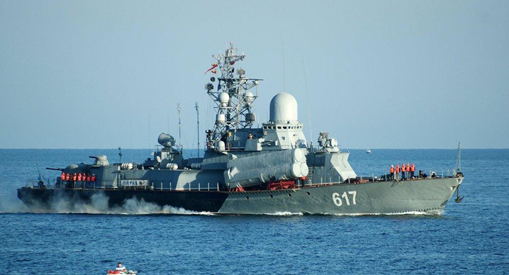 سفينة صاروخية تابعة لأسطول البحر الأسود الروسي