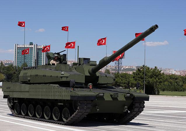 صورة أرشيفية لدبابة تركية