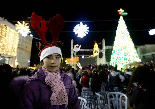 الفلسطينيون يستعدون لإستقبال عيد الميلاد المجيد في بيت لحم