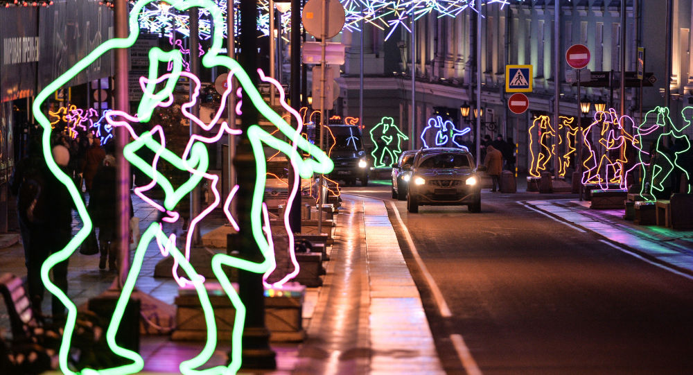 الاحتفال بعام 2016 فى شوارع موسكو