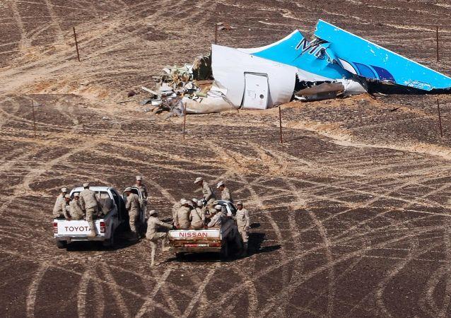 مكان تحطم طائرة الركاب الروسية في سيناء