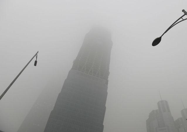 ضباب كثيف يغطي بكين