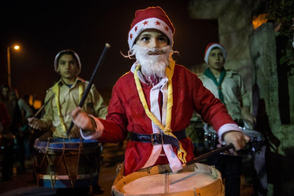 دمشق أثناء احتفالات عيد الميلاد
