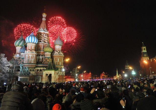 العام الجديد فى الساحة الحمراء