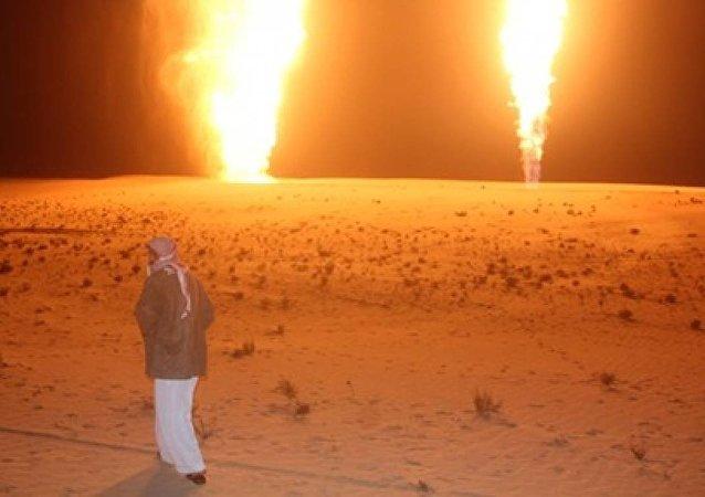 تفجير خط الغاز في شمال سيناء