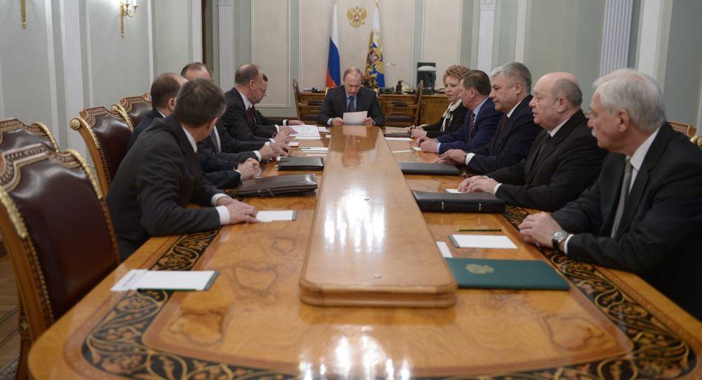 اجتماع لمجلس الأمن الروسي