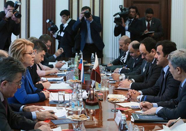 لقاء بين ماتفيينكو وأمير قطر