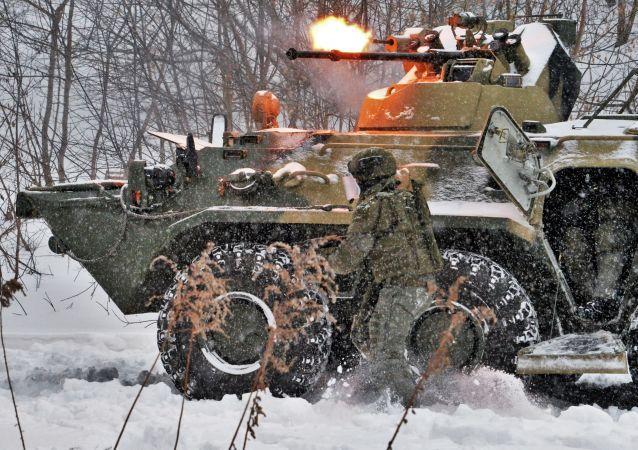 مناورات عسكرية لوحدات الهندسة التابعة للقوات المسلحة الروسية في مدن روسيا