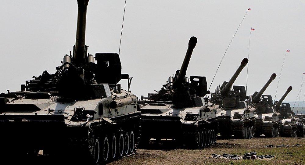مدافع ذاتية الحركة تابعة للقوات البرية الروسية