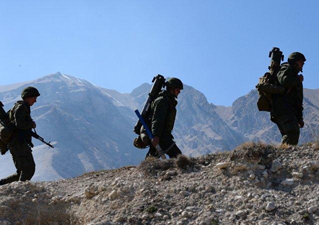 التدريبات الجبلية للجيش الروسي