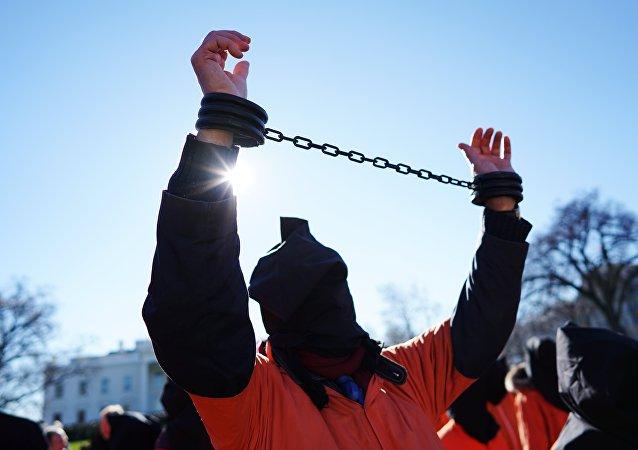 صورة أرشيفية لمظاهرة ضد سجن غوانتانامو