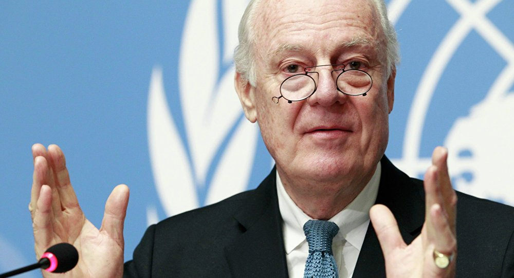 المبعوث الأممي الى سوريا دي مستورا
