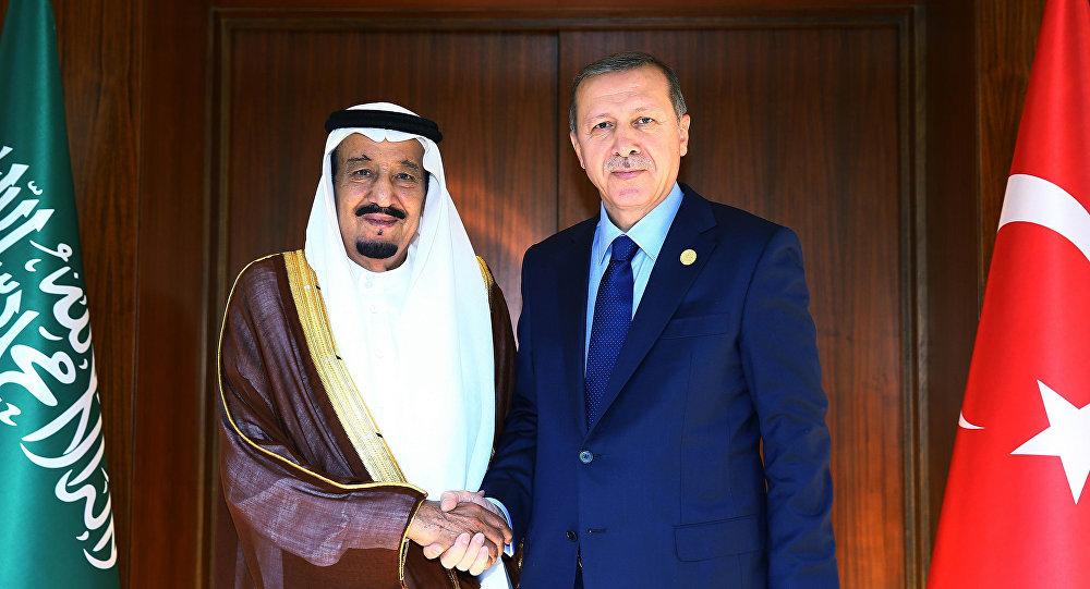الرئيس التركي أردوغان مع الملك السعودي سلمان