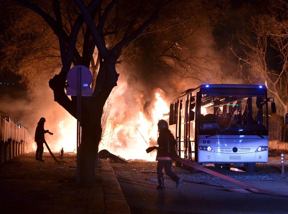 إنفجار في أنقرة، 17 فبراير/ شباط 2016.