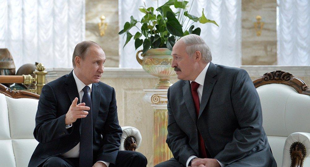 فلاديمير بوتين مع ألكسندر لوكاشينكو
