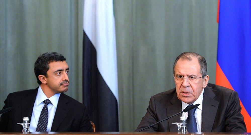 لافروف مع وزير الخارجية الإماراتي