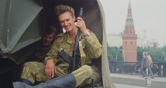 موسكو في أغسطس/آب 1991