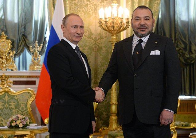 لقاء بوتين والملك محمد السادس