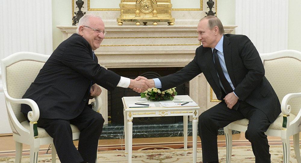 لقاء الرئيس الروسي بوتين والرئيس الإسرائيلي ريفلين