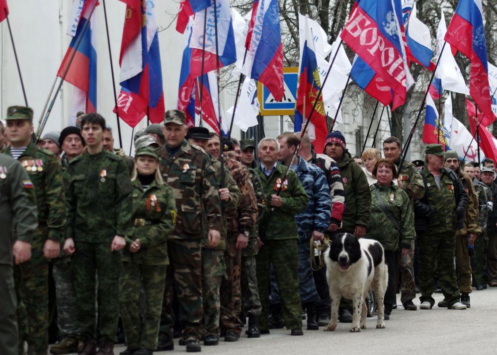 الاحتفال بإعادة توحيد شبه جزيرة القرم مع روسيا في سيفاستوبل